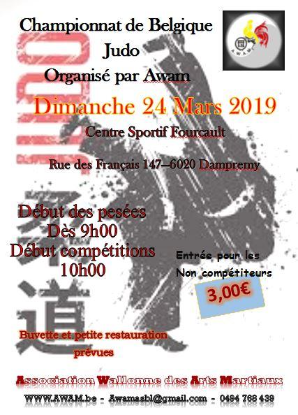 Projet affiche championnat belgique judo 2019